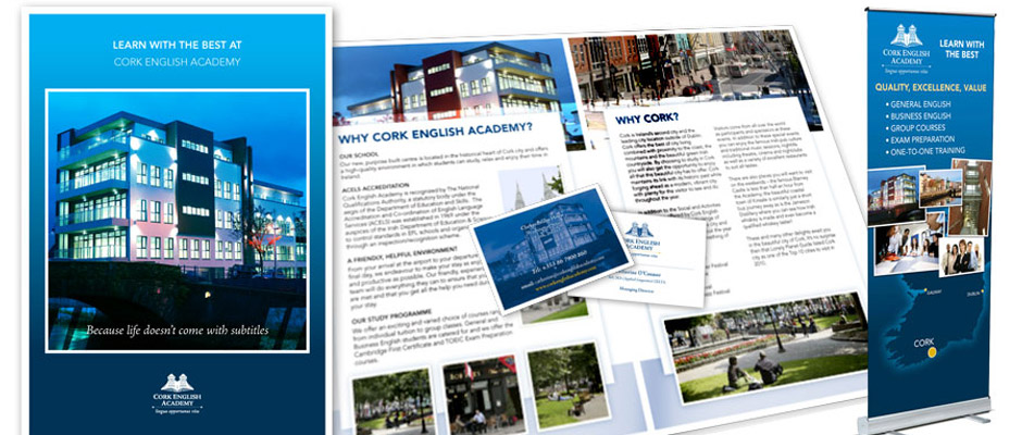 Cork English Academy Print Design