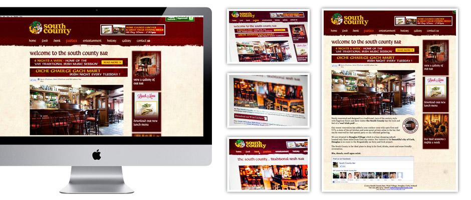 The South County Bar Website design